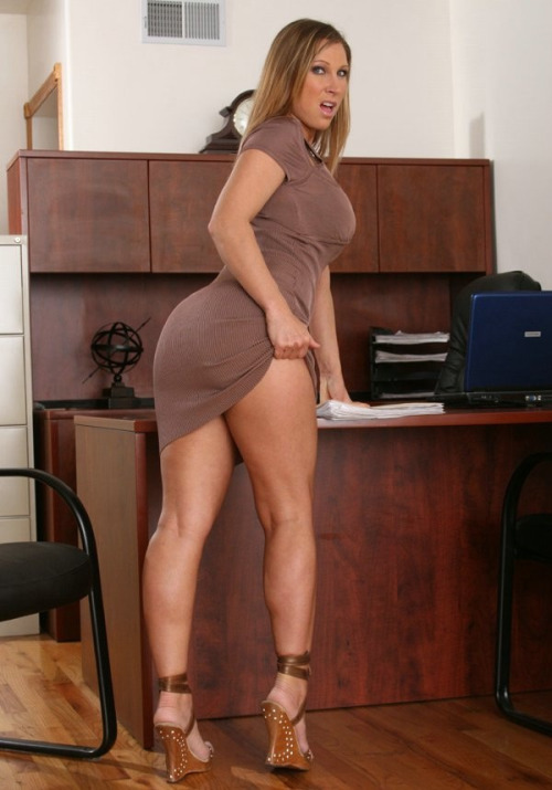 Milf secretary working hard