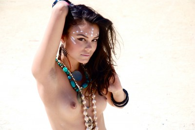 Nathalie Kelley (Tokyo Drift) at Burning Man