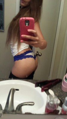 New thong! Sorry about the dirty mirror :) (f)