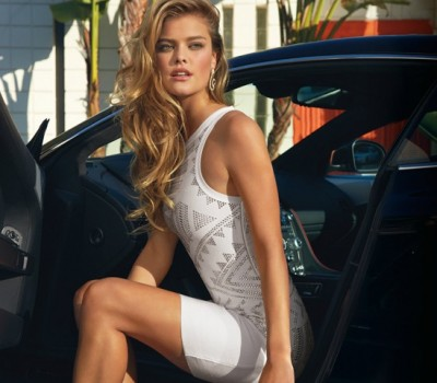 Nina Agdal in a tight little number