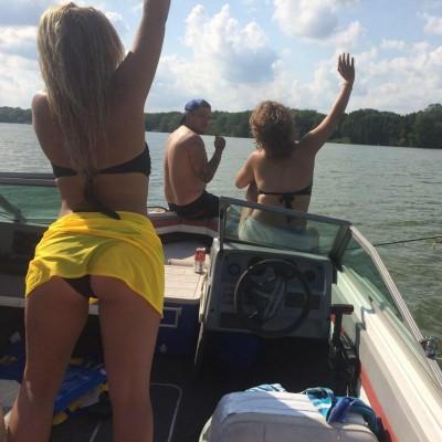 Random ass on a boat