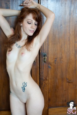 Redhead with perfect pink nipples