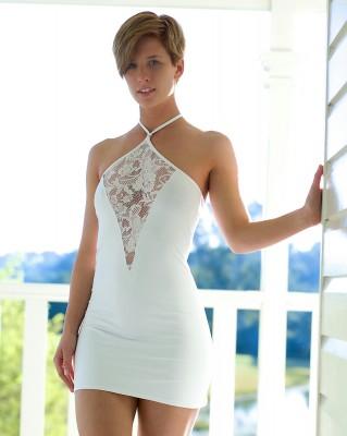 SHH in a tight white dress!