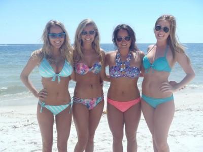 Shades and bikinis
