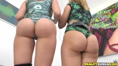 Anikka Albrite & Mia Malkova Showing off their Asses