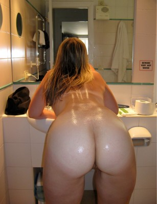 Shiny Ass in the Bathroom