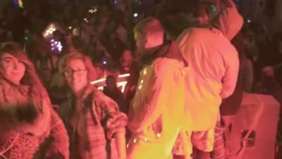 April O'neil dancing at Burning Man