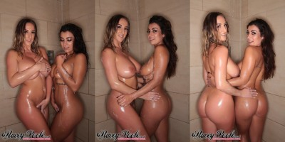 Stacey Poole & Fiona Siciliano in the shower (X-post /r/StaceyPoole_)