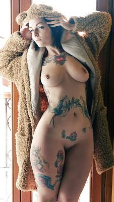 Tattooed teddy bear