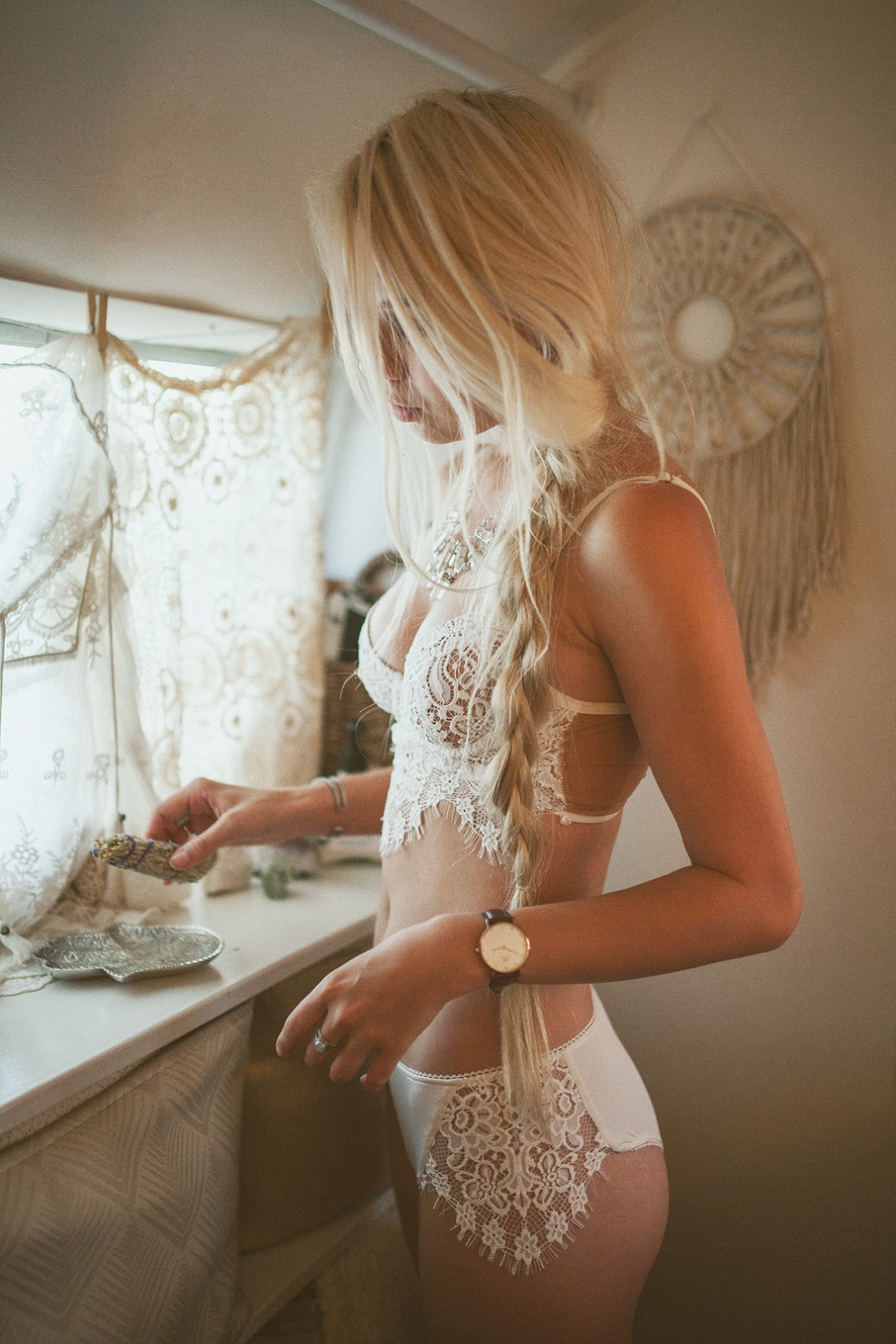 White and lacy