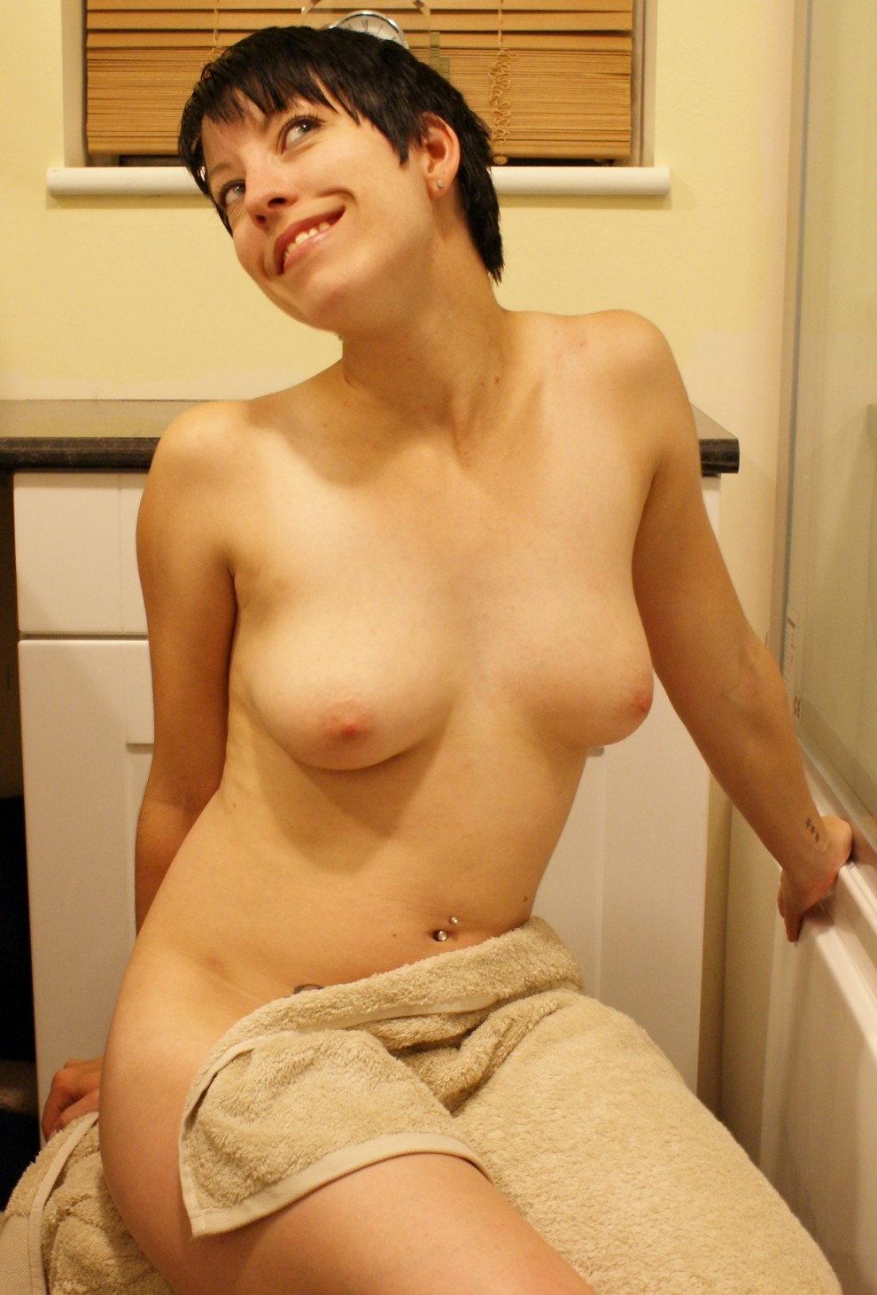 (f)lashing you my tits before getting in the tub :-)