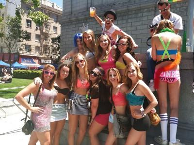 Pride parade group.