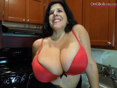 milf in a red bra