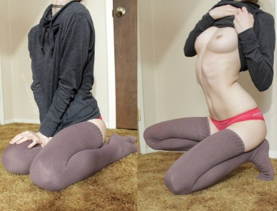 on and off with my comfy sweater [self]