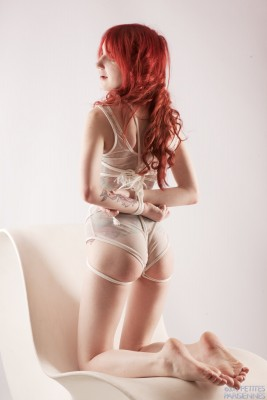 red head in ropes