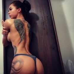 Amazing Hot Girl With Tattoo