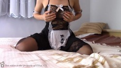 Teasing in my French maid outfit ! :D