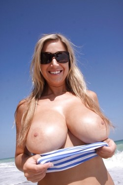 Bad Boobjob at the Beach