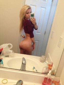 Blonde with an ass