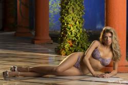Charlotte McKinney modelling lingerie