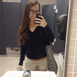 Class was lame so I escaped to the restroom for a moment
