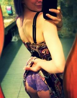 [F] A Peek Under My Dress During Dinner..