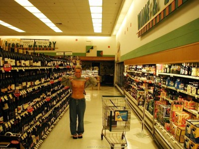 Flashing in the wine aisle [IMG]