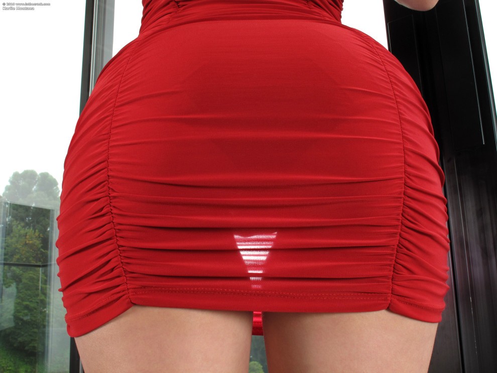 Gap through the dress