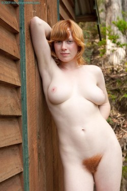 Hairy ginger in nature