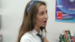 Naughty Schoolgirl Cassidy Klein Fucked in Classroom