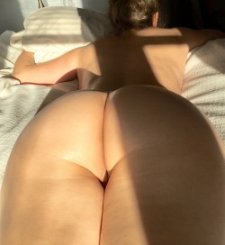 His view o(f) my ass.