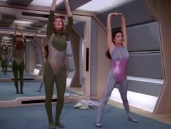 Marina Sirtis and Gates McFadden - Star Trek TNG Workout Plot