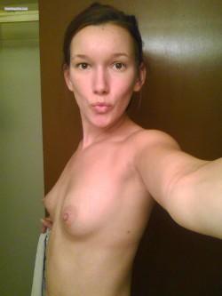 Kissy-face selfie