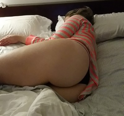 My girl is shy but she wants to know what you'd like to do to her smooth phat white ass!