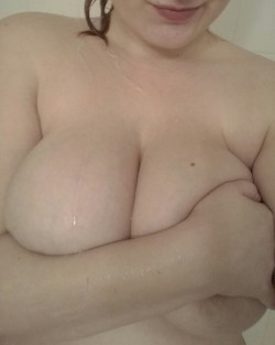 My huge boobs too wild [f]or this sub?