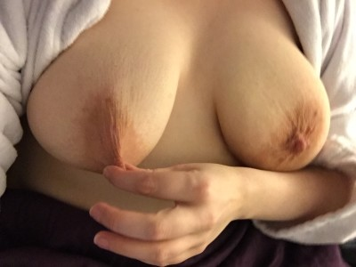 Pinching my nipple. Ouch!! Who wants to pinch them?