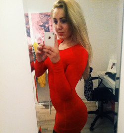 Red and skintight
