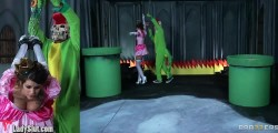 Mario and Luigi finally get their reward from the princess