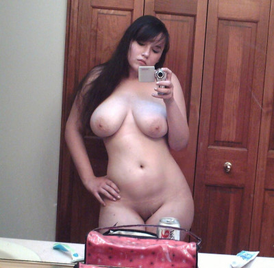 Thick curvy naked selfies