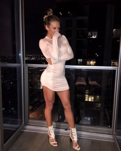 Thin white dress