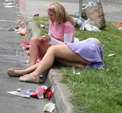 Trash on the curb