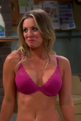 Kaley Cuoco shaking her plots on The Big Bang Theory