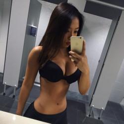 Very Focused Asian Girl