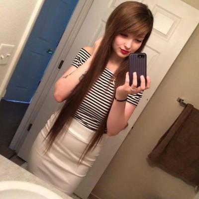 White skirt stripy top