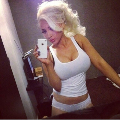Workout selfie