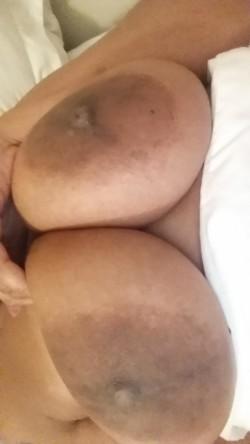 grabbing and licking my big brown jugs on snap: princesbella69