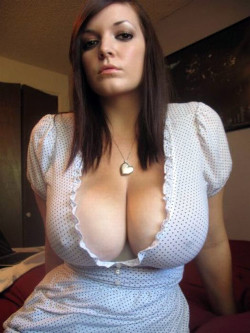 Adorable girl with big tits