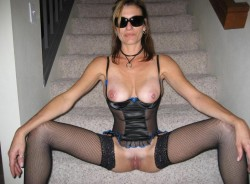 Corset On The Stairs!