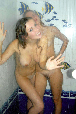 Girl and her Anna Kendrick look alike friend in the shower