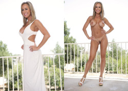 Hot Milf Long White Dress On/ Off